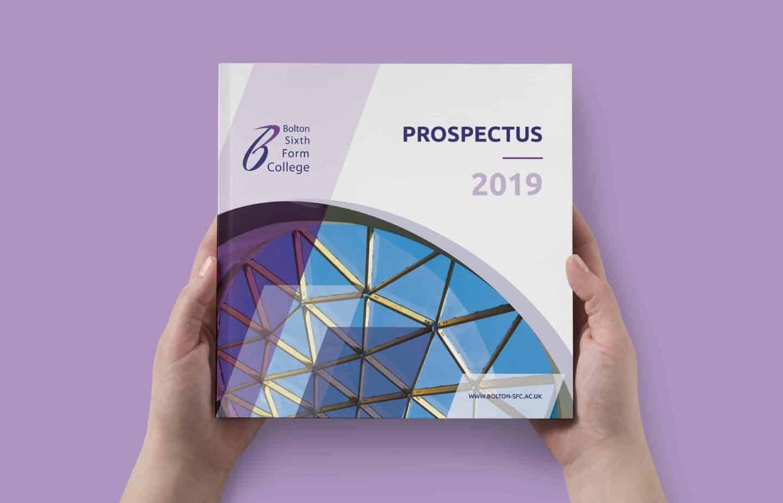 Prospectus Design - Cover - Bolton Sixth Form College