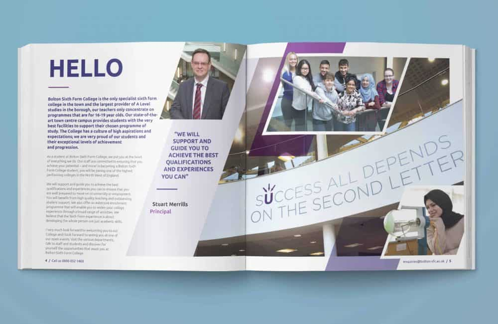 Bolton Sixth Form College Prospectus Inner Pages