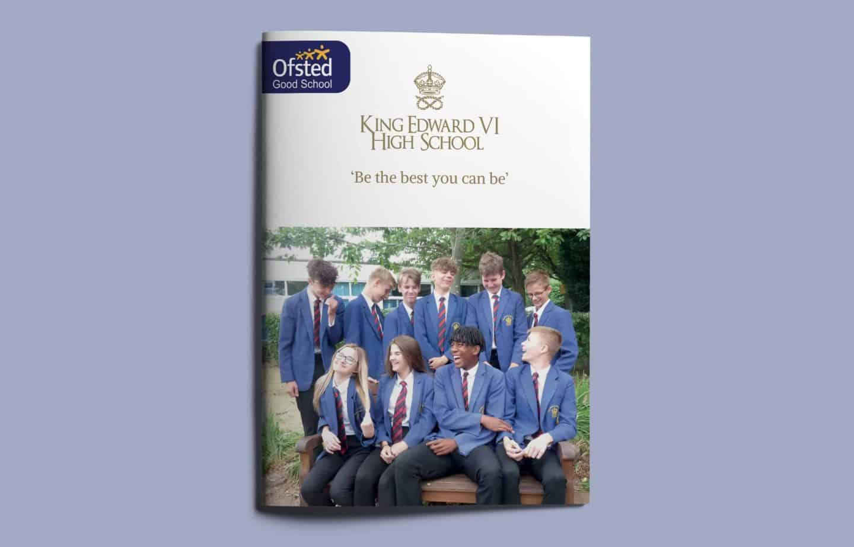 School Prospectus Design - Cover - King Edward