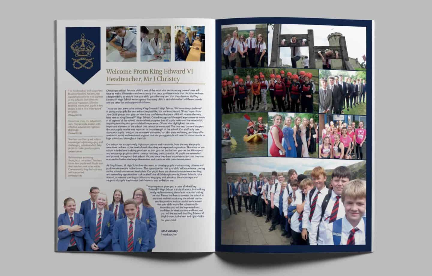School Prospectus - Spread - King Edward