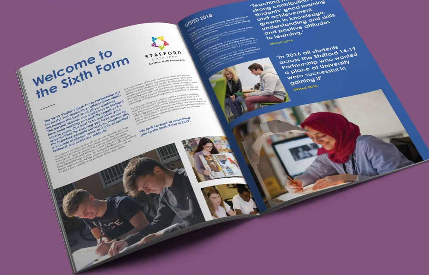Prospectus Design - Spread - Stafford Sixth Form