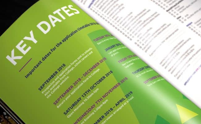 Prospectus Design - Key Dates