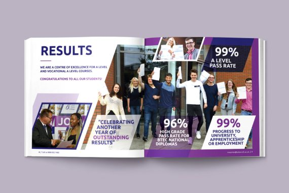 Our top 10 tips for designing a successful prospectus