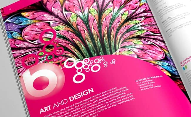 Prospectus Design - Vibrant Photography