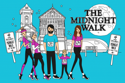 St Luke's Midnight Walk Branding