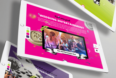 Warble Entertainment Agency Branding