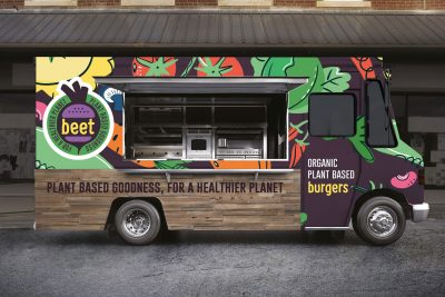 BEET Vegan Burger Bar Branding